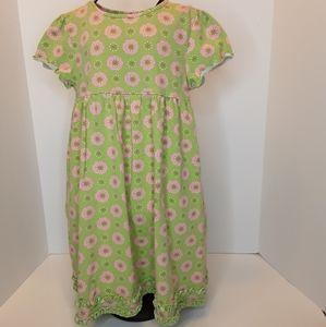 J. Khaki green pink flowers dress size 5
